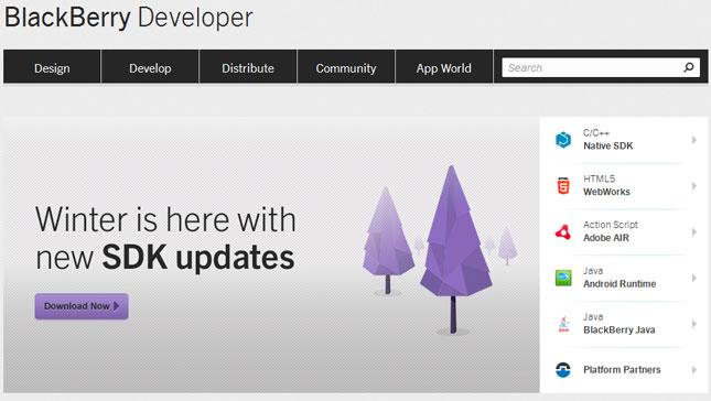 Portal de desarrollador Blackberry