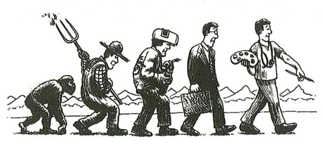 Evolucion hombre primitivo a hombre creativo